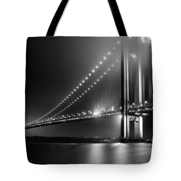 Bridging Verrazano Narrows Tote Bag by Mihai Andritoiu