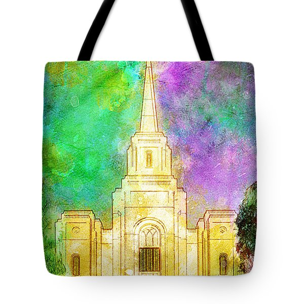 Tote Bag featuring the painting The Heavens Were Opened by Greg Collins