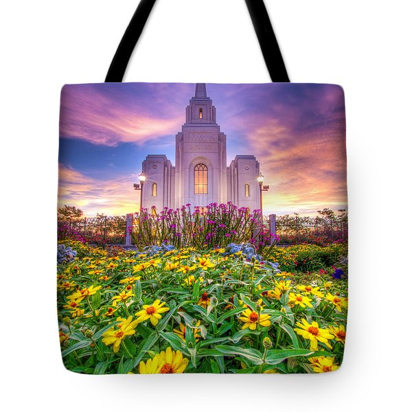 Brigham City Temple Tote Bag