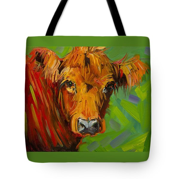Bright And Beautiful Cow Tote Bag