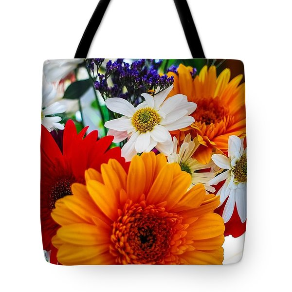 Tote Bag featuring the photograph Bright by Angela J Wright