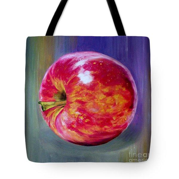 Bright Apple Tote Bag by Graciela Castro