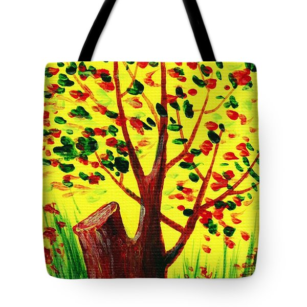 Bright Fall Tote Bag by Anastasiya Malakhova