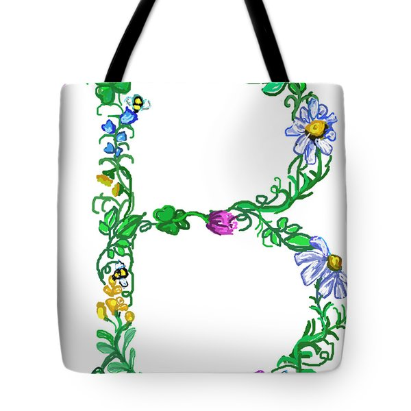 Bright Fun Colorful Hand Drawn Monogram B Tote Bag