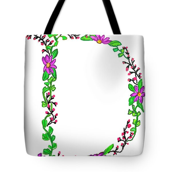 Bright Fun Colorful Hand Drawn Monogram D Tote Bag
