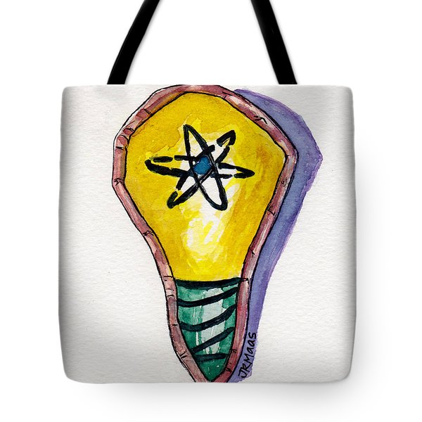 Bright Idea Tote Bag by Julie Maas