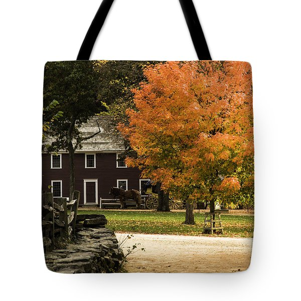 Tote Bag featuring the photograph Bright Orange Autumn by Jeff Folger