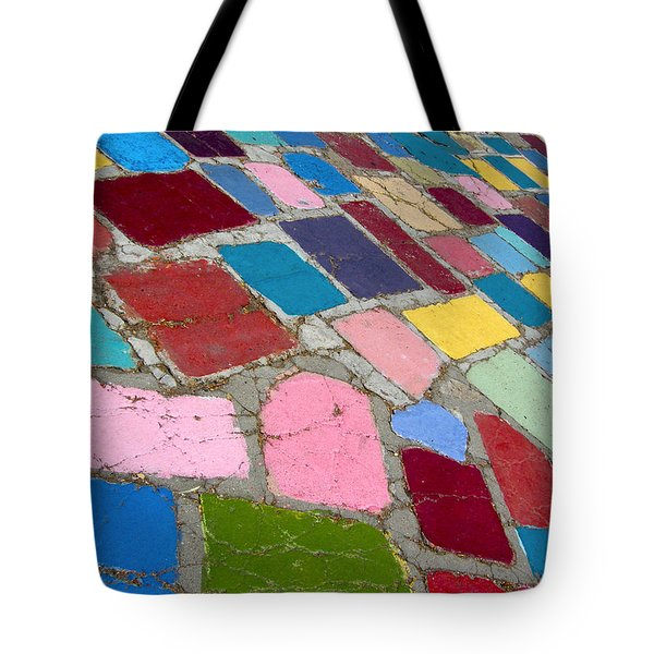 Bright Paving Stones Tote Bag