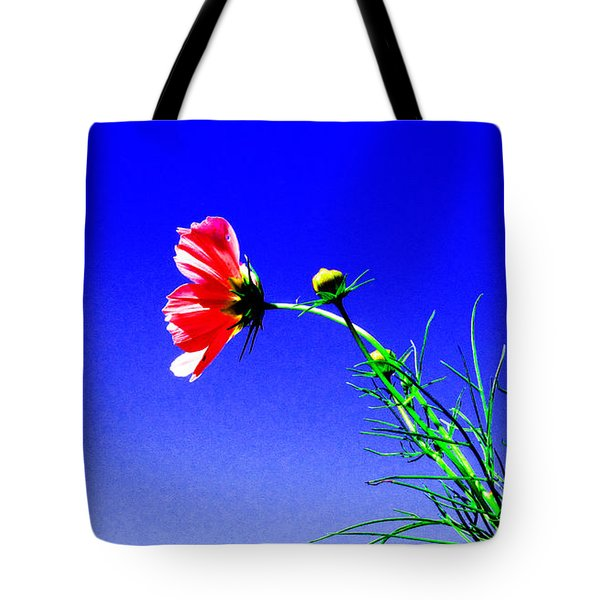 Bright Pink Bloom Tote Bag by Tina M Wenger