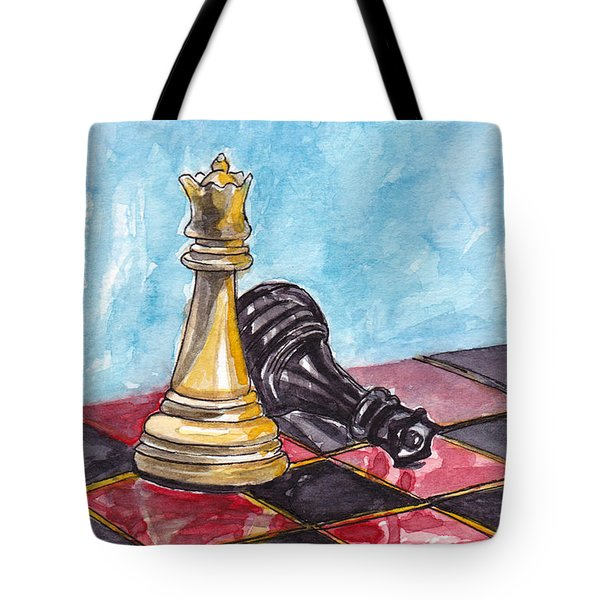 Tote Bag featuring the painting Bright Queen by Julie Maas