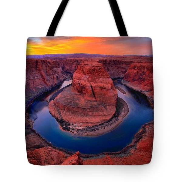 Bright Skies Over Horseshoe Tote Bag