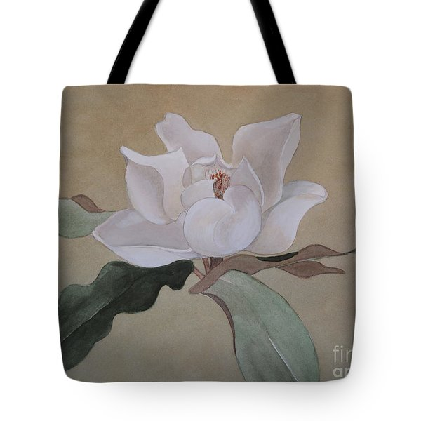 Tote Bag featuring the painting Bright White by Nancy Kane Chapman