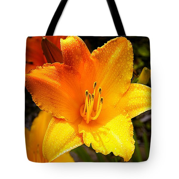 Bright Yellow Daylily Flower Tote Bag