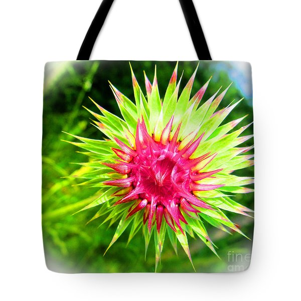 Brighter Pineapple Flower Tote Bag by Tina M Wenger
