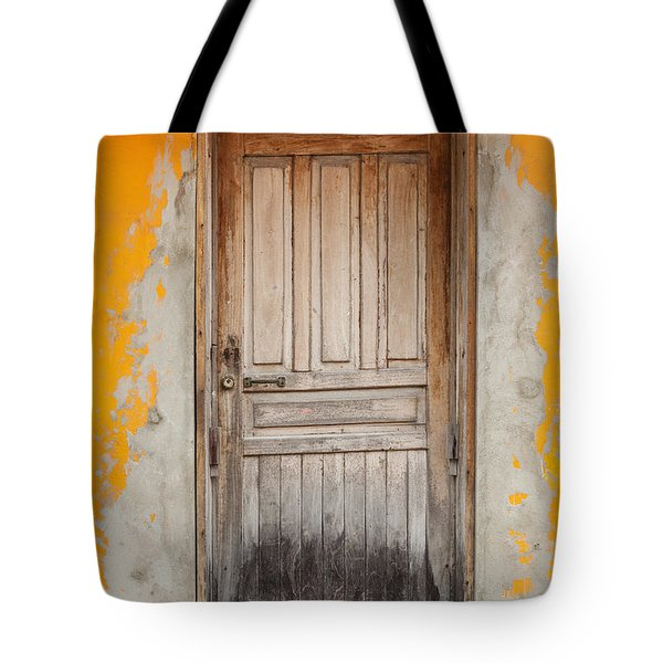 Brightly Colored Door And Wall Tote Bag