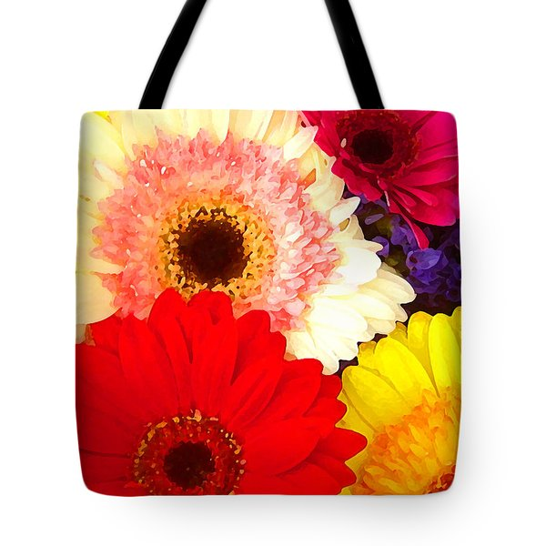 Brightly Colored Gerbers Tote Bag