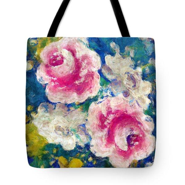 Brightly Floral Tote Bag by Susan Leggett