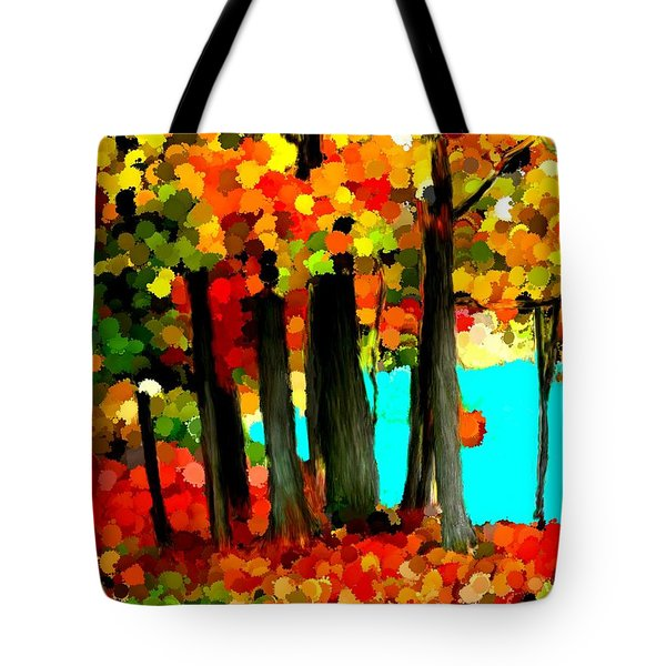 Brightness In The Forest Tote Bag by Bruce Nutting