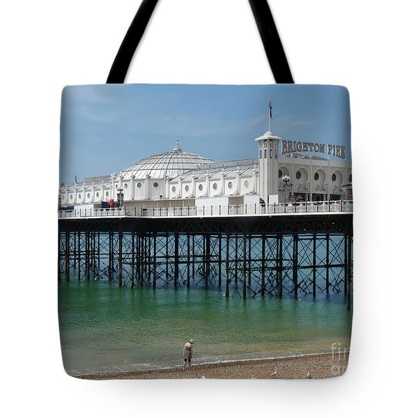 Tote Bag featuring the photograph Brighton Pier - Sussex By The Sea by Phil Banks