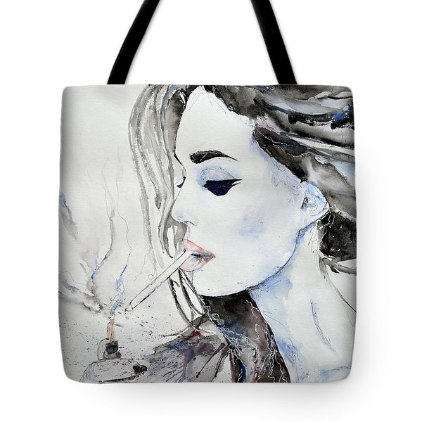 Tote Bag featuring the painting Brigitte Bardot by Ismeta Gruenwald