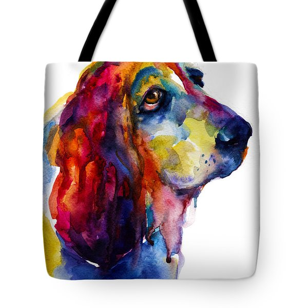 Brilliant Basset Hound Watercolor Painting Tote Bag