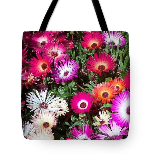 Brilliant Flowers Tote Bag by Chalet Roome-Rigdon