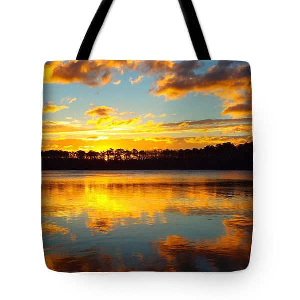 Tote Bag featuring the photograph Brilliant Sunrise by Dianne Cowen