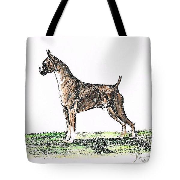 Brindle Boxer Tote Bag by Joann Renner