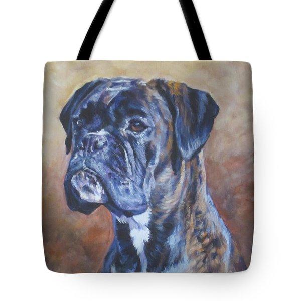 Brindle Boxer Tote Bag by Lee Ann Shepard