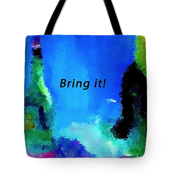 Tote Bag featuring the painting Bring It by Lisa Kaiser