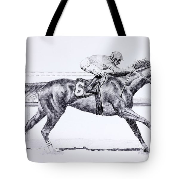 Bring On The Race Zenyatta Tote Bag by Joette Snyder