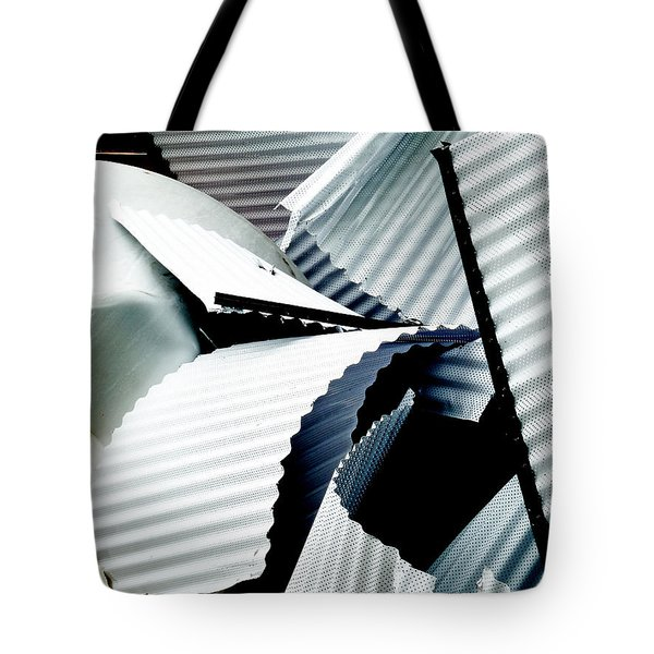 Bringing Down The Roof Tote Bag by Steve Taylor