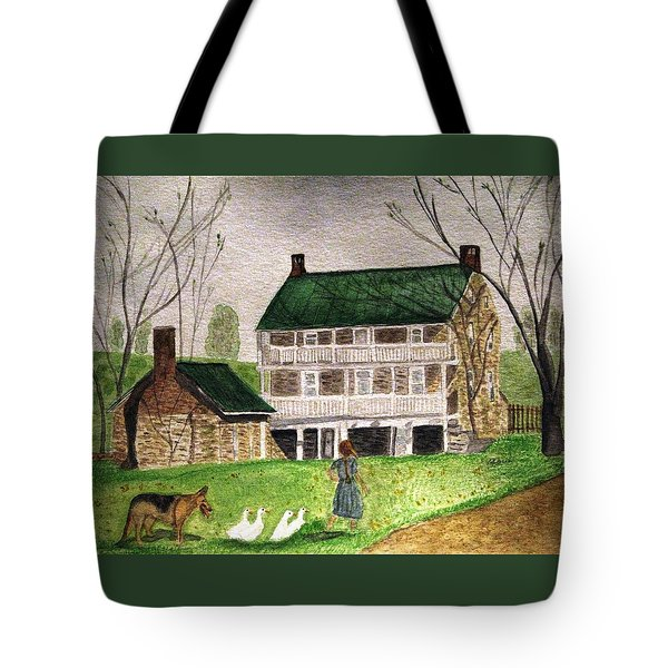 Bringing Home The Ducks Tote Bag
