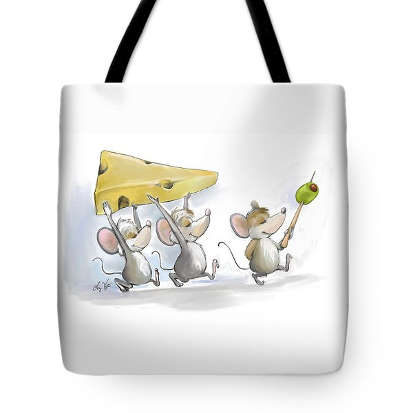 Bringing In The Cheese With Olives Tote Bag