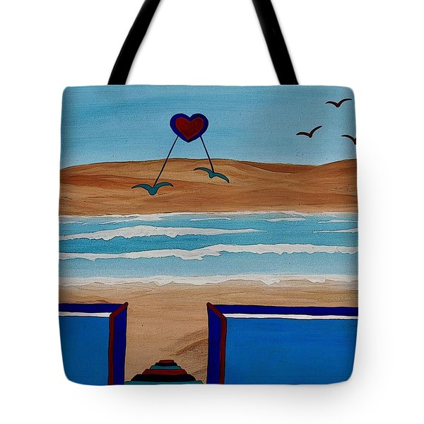 Bringing The Heart Home Tote Bag by Barbara St Jean