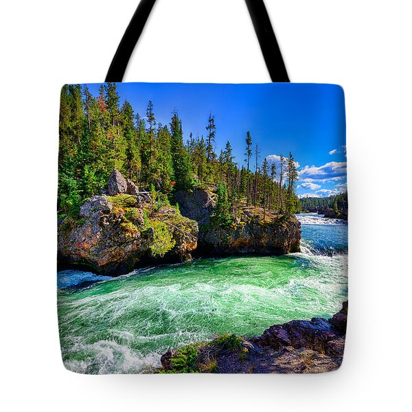 Brink Of Upper Falls Tote Bag