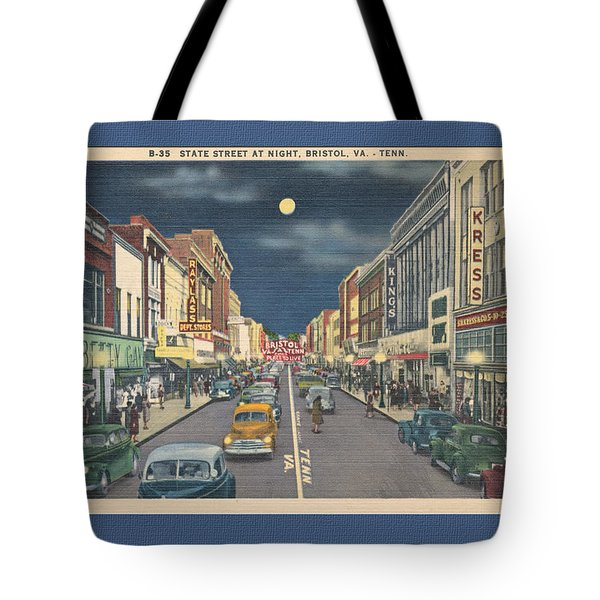 Bristol At Night In The 1940's Tote Bag