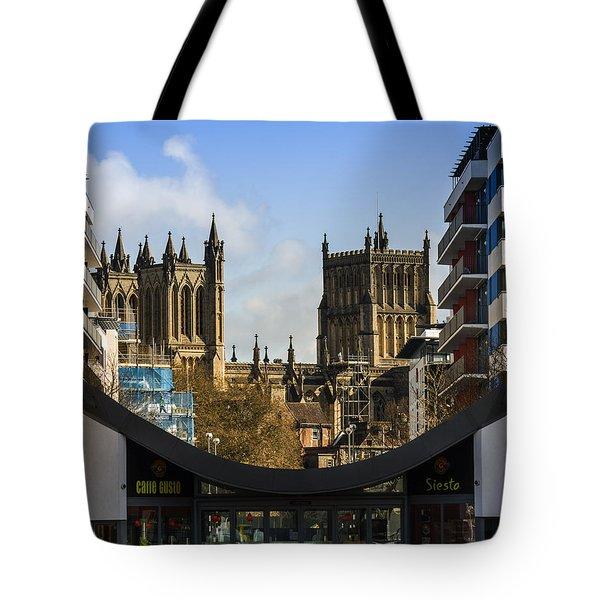 Bristol Cathederal Tote Bag by Brian Roscorla