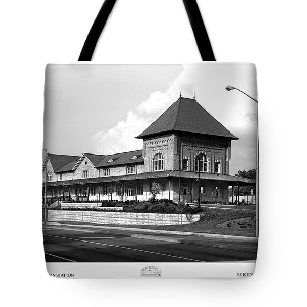 Bristol Train Station Bw Tote Bag