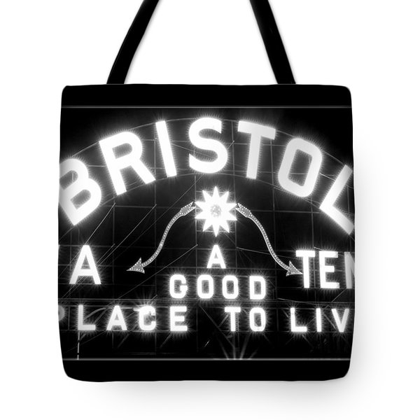 Bristol Virginia Tennesse Slogan Sign Tote Bag