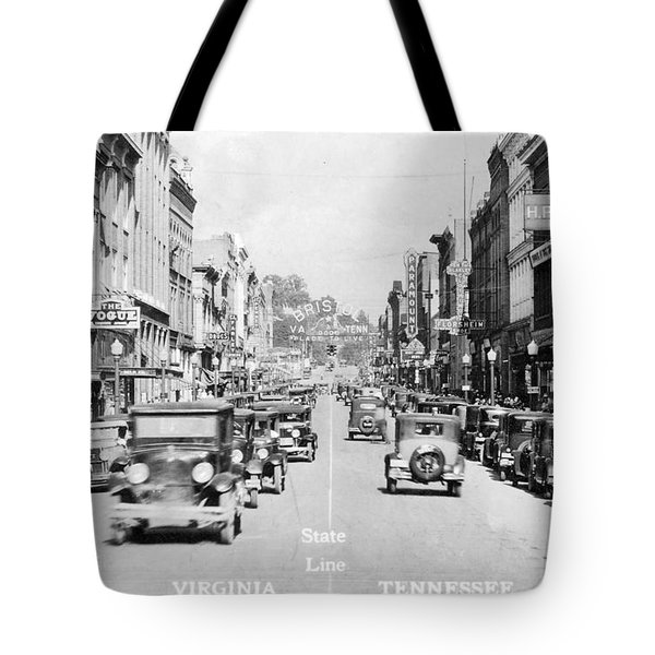 Bristol Virginia Tennessee State Street 1931 Tote Bag