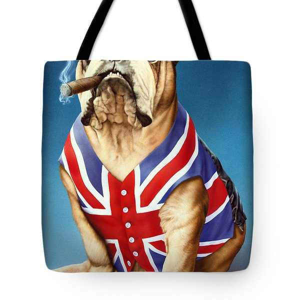 British Bulldog Tote Bag by Andrew Farley