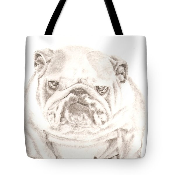 British Bulldog Winnie Tote Bag