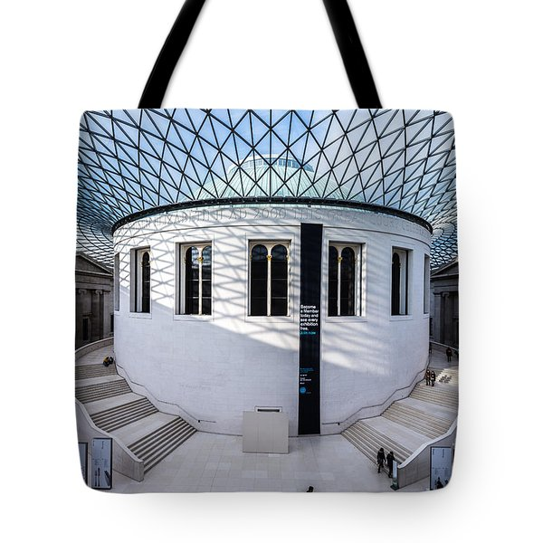 Tote Bag featuring the photograph British Museum Color by Matt Malloy