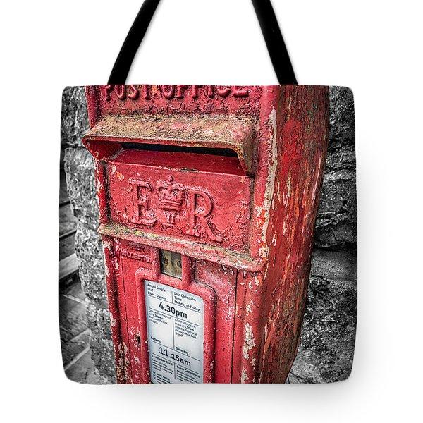 British Post Box Tote Bag by Adrian Evans