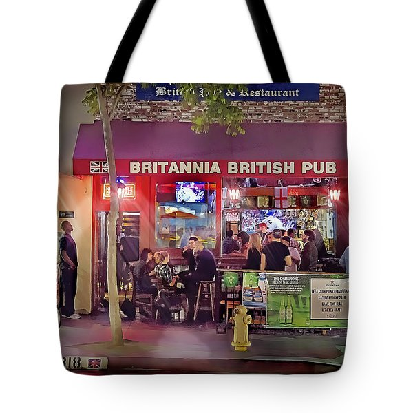 British Pub Tote Bag by Chuck Staley