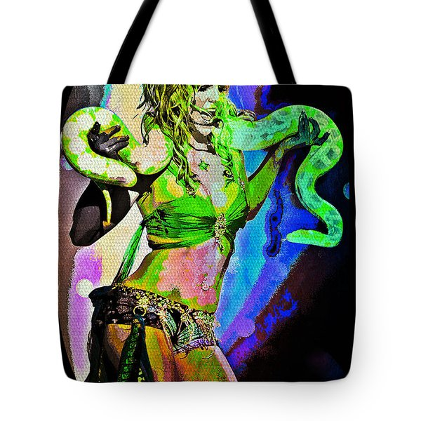Britney Neon Dancer Tote Bag