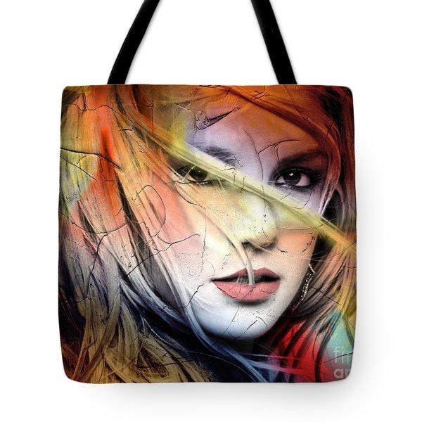 Britney-spears Tote Bag by Mark Ashkenazi