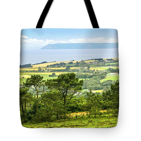 Brittany Landscape With Ocean View Tote Bag by Elena Elisseeva