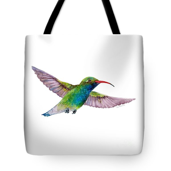Broad Billed Hummingbird Tote Bag by Amy Kirkpatrick